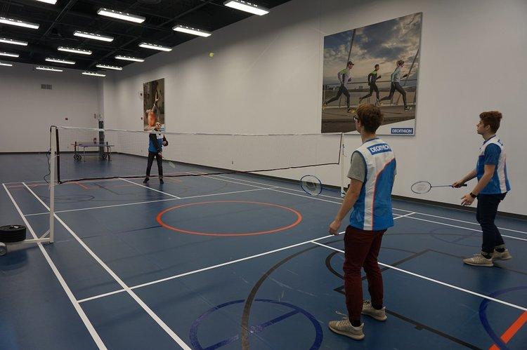 Decathlon Badminton Room. PHOTO: DECATHLON