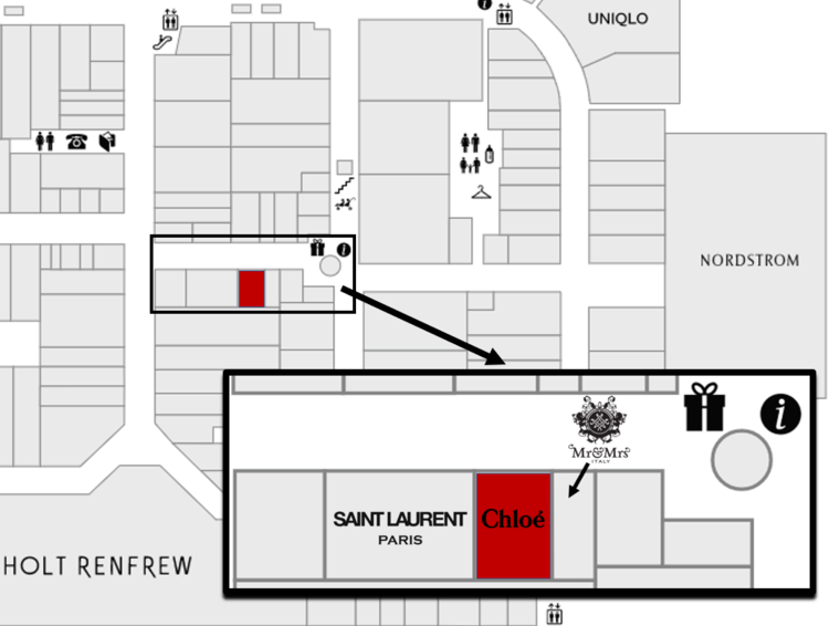 Click Image for interactive Yorkdale mall floor plan