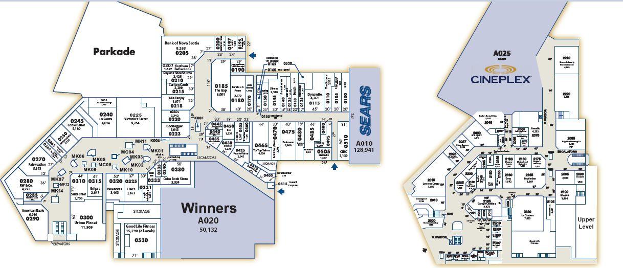 Avalon Mall - Floor plan