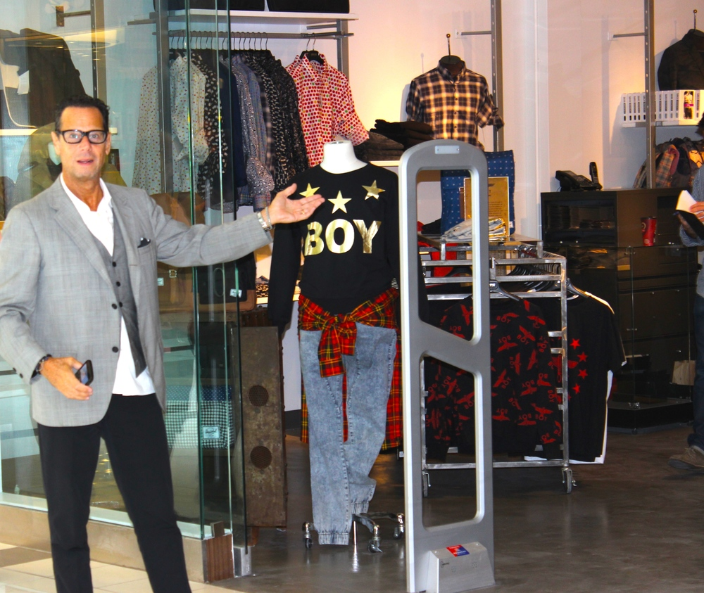 David Goldman in front of Guildford Store