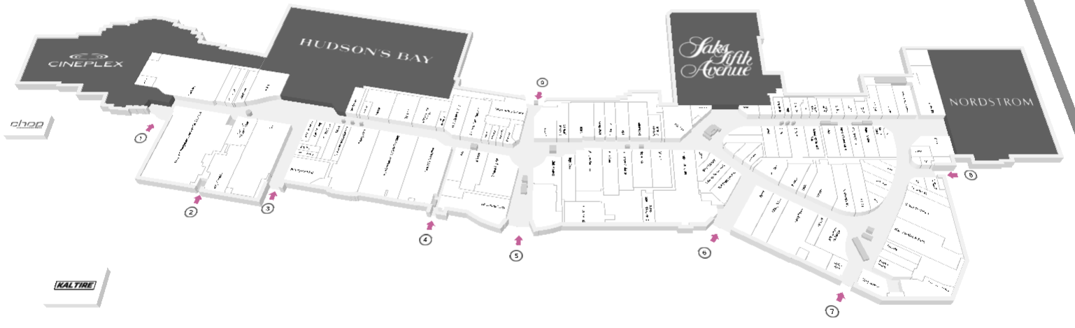 Main Floor Map - CF Chinook Centre