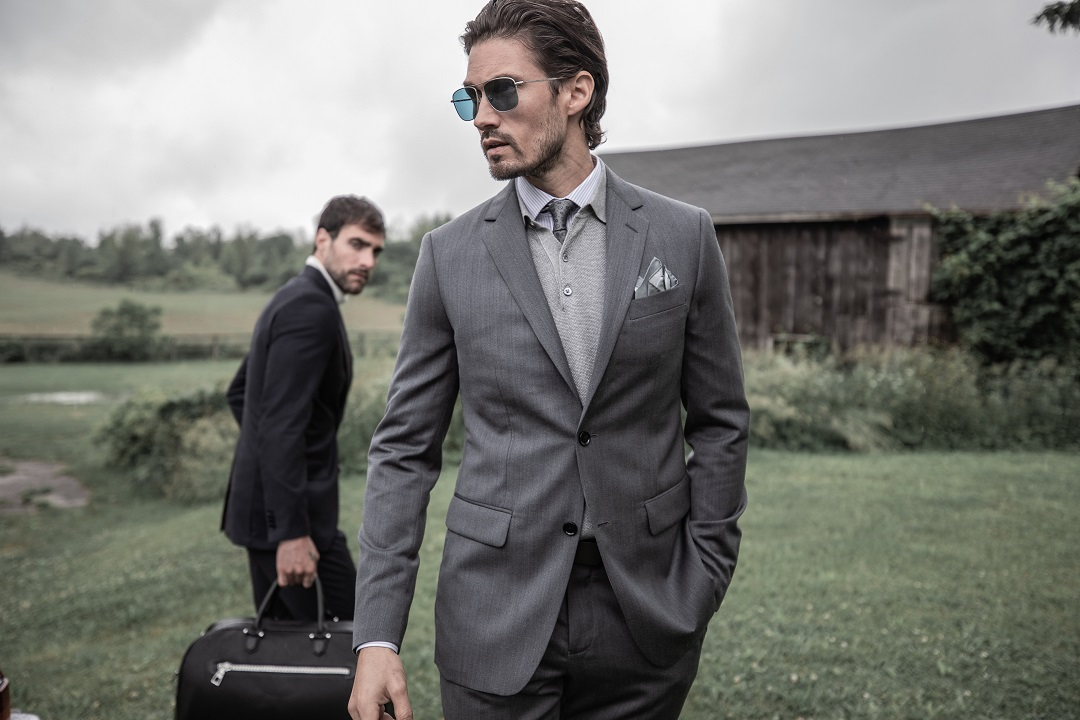 Hereford Cavalry Twill Charcoal Suit
