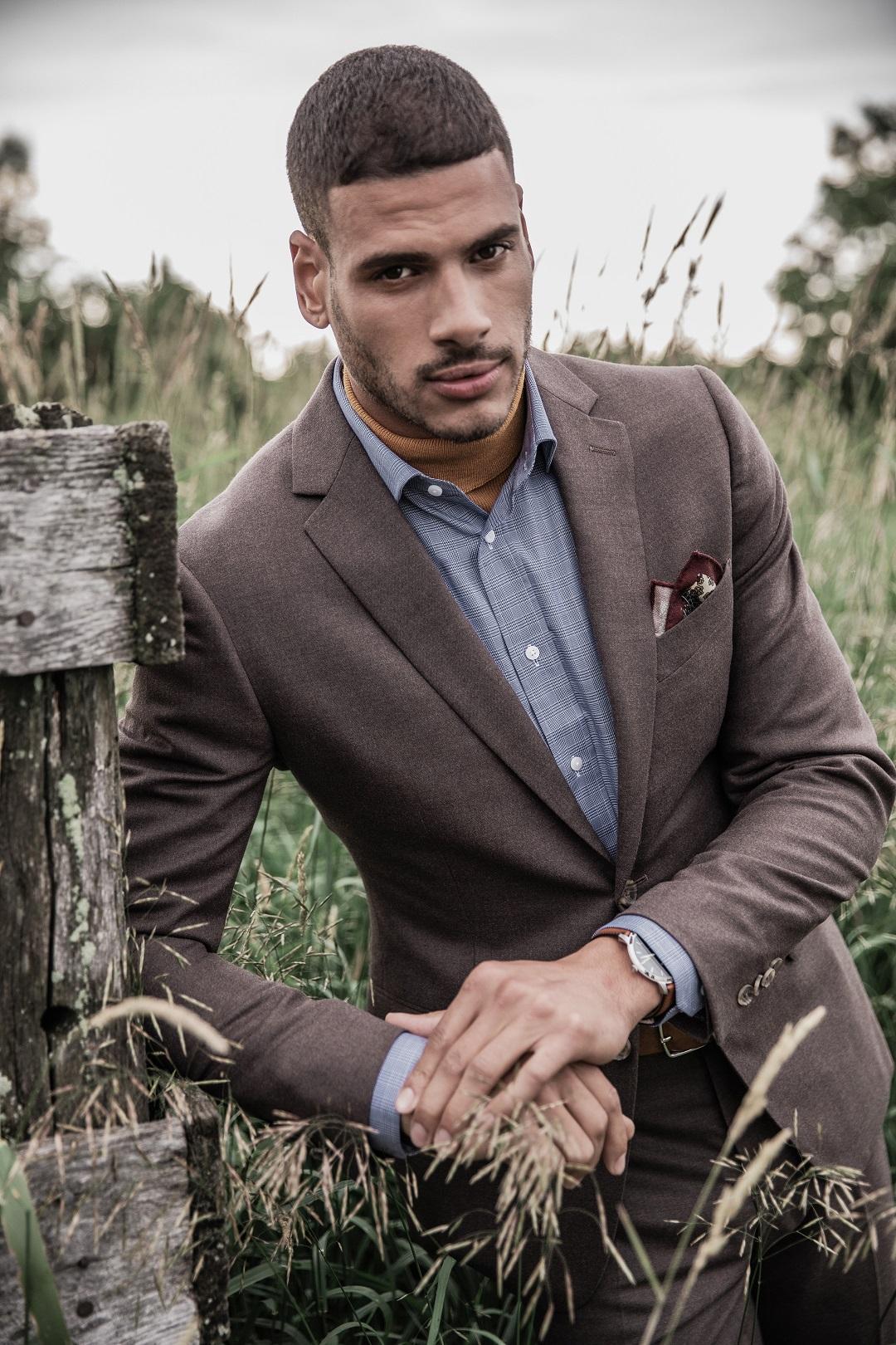 Hayward Flannel Brown Suit