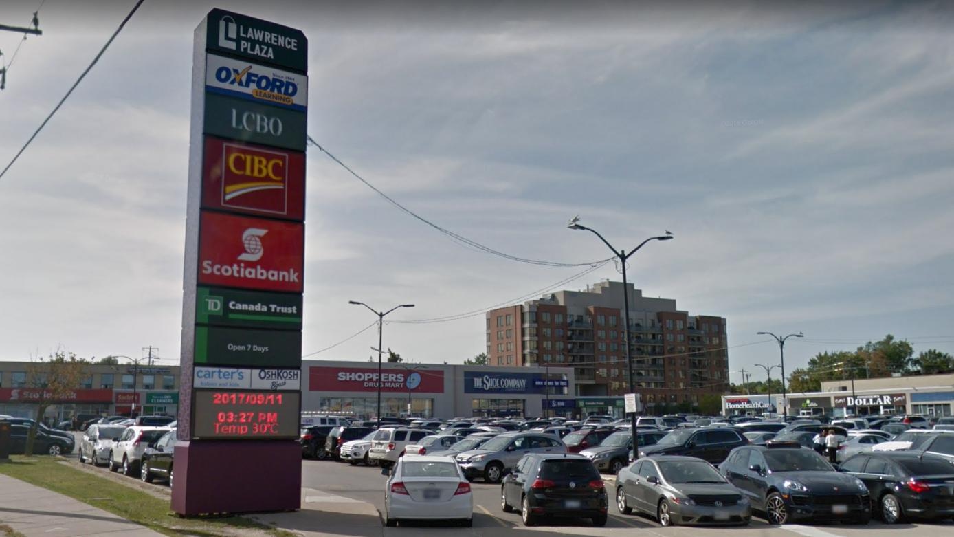 Lawrence Plaza in Toronto. Photo: Google Maps