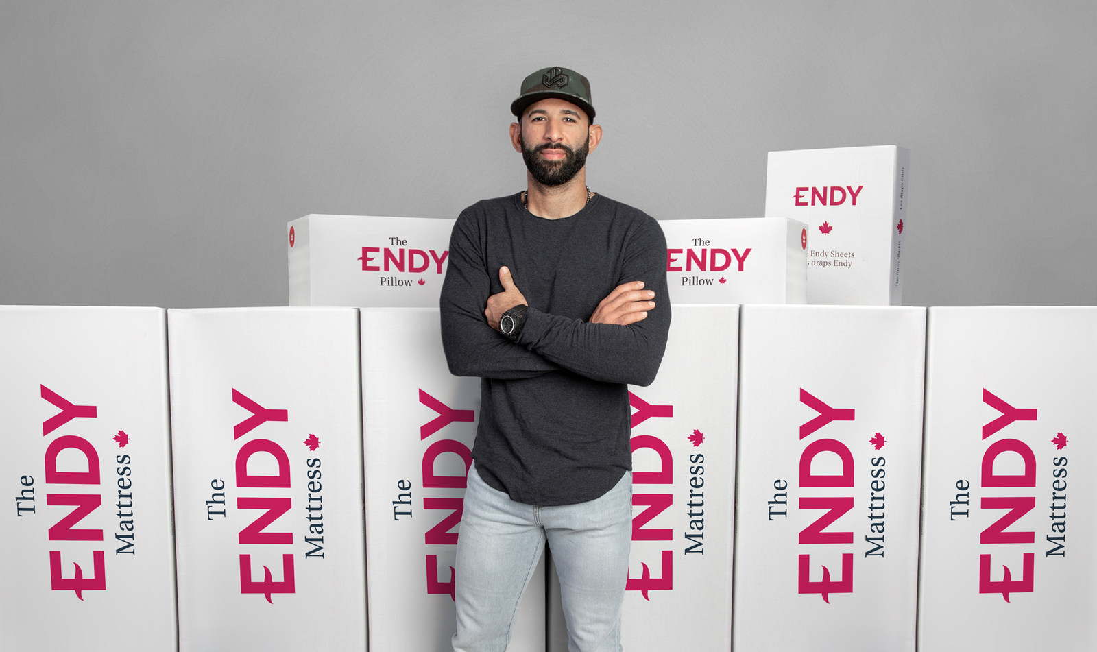 Iconic athlete and former Toronto Blue Jays star Jose Bautista joins Endy, Canada's leading online mattress brand, as investor. (CNW Group/Endy)
