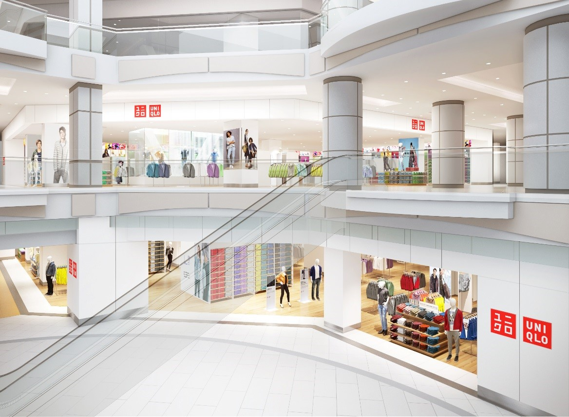 Rendering of Metrotown (Burnaby, BC) Expansion. Photo: Uniqlo