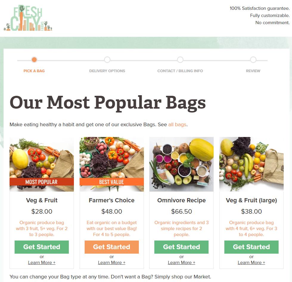 Fresh City Website