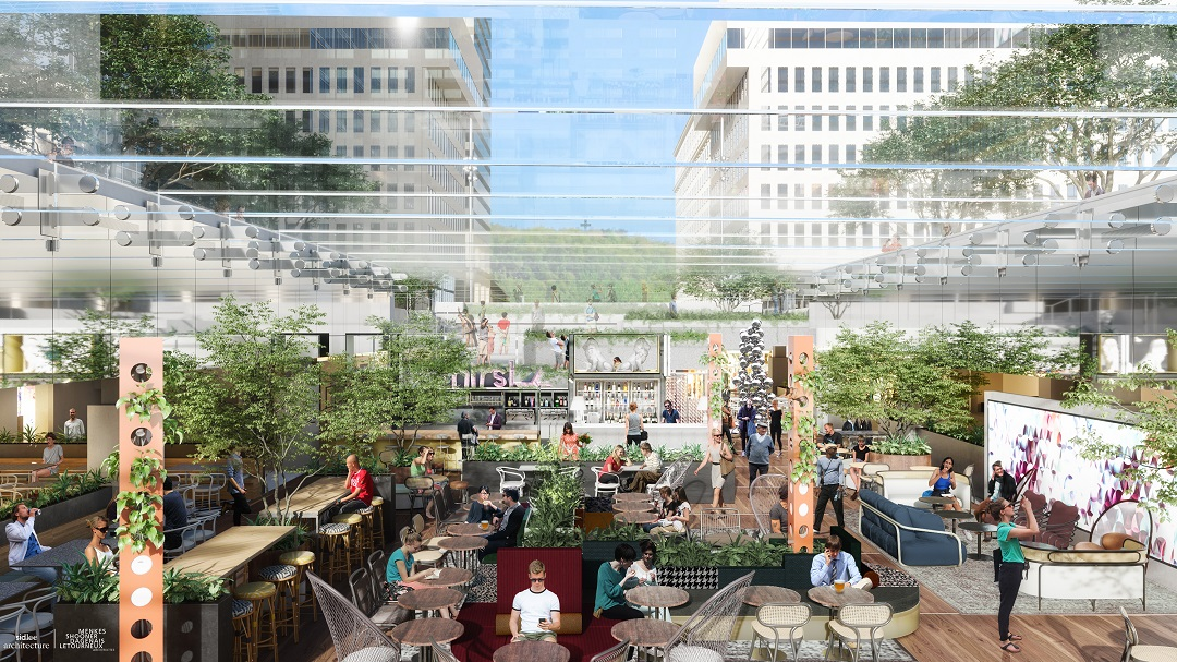 central garden Rendering.   Rendering:  Sid Lee Architecture/Supplied