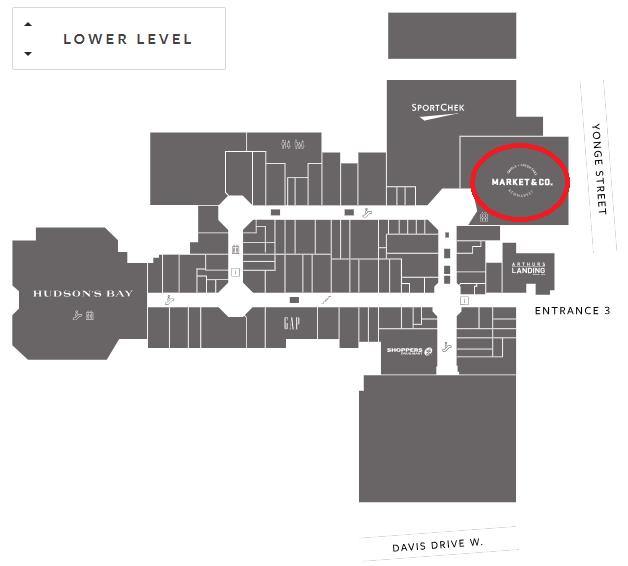Upper Canada Mall Map