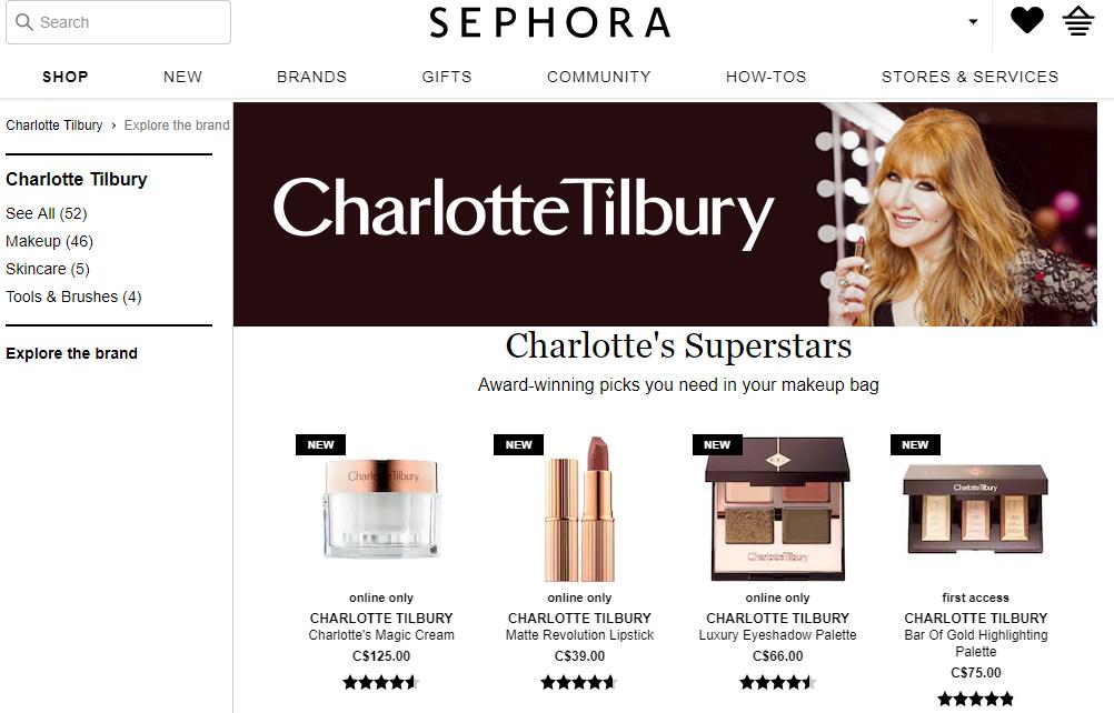 Sephora's Website