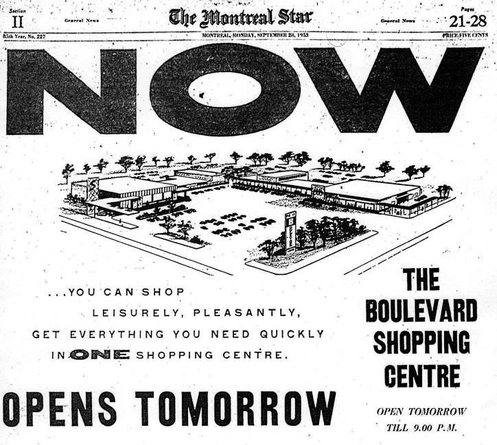 Montreal Star Newspaper advertisement from September 28, 1953