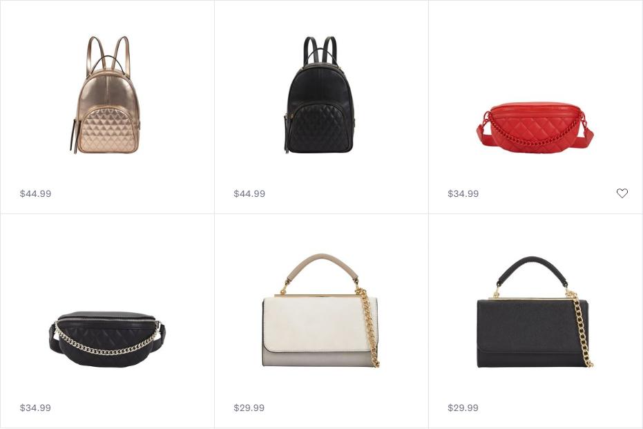 Handbags. Photo: Call It Spring Website