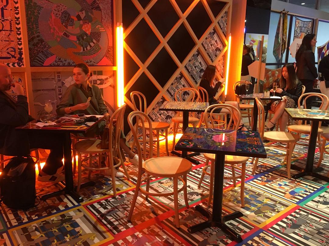 Café seating area.