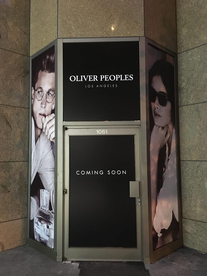 Entrance to the new Vancouver Oliver Peoples at 1061 Alberni Street.