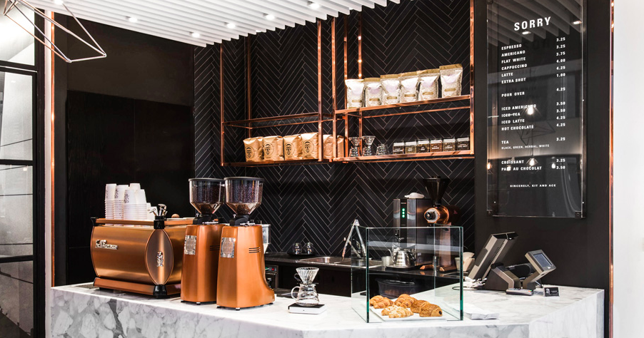 'Sorry Coffee' at Kit and Ace at 102 Bloor St. W. in Toronto. Photo: Kit and Ace