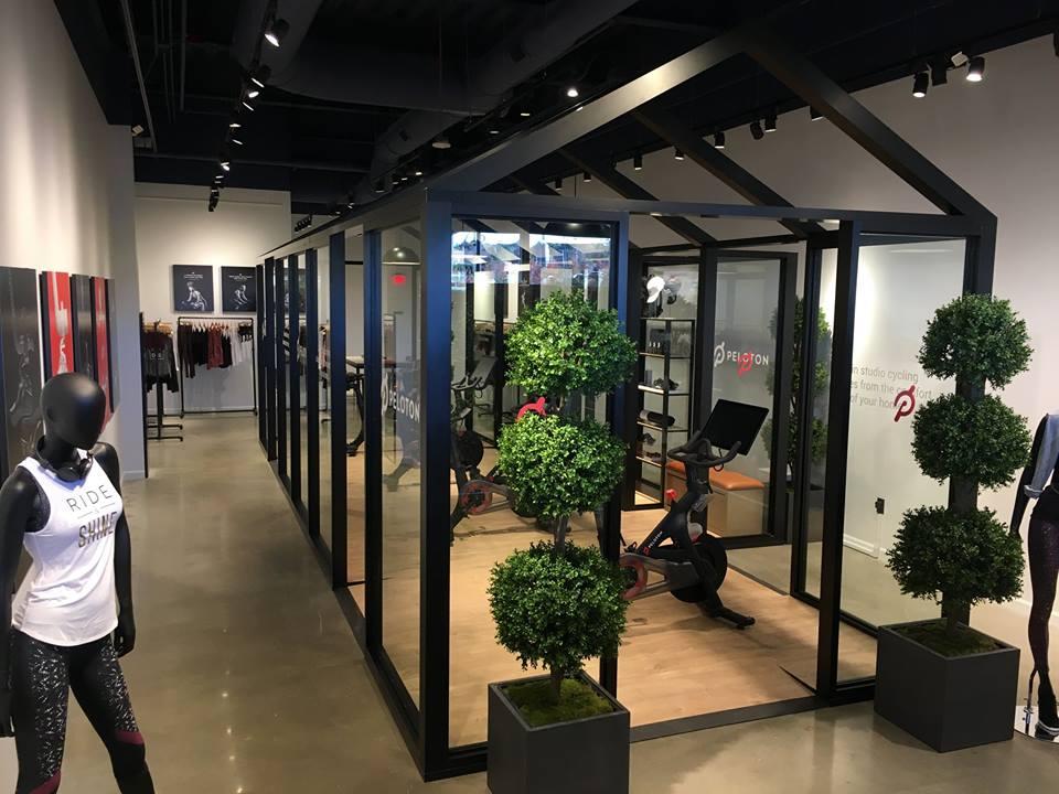 Legacy Place (Dedham, Massachusetts) showroom. Photo: Peloton Facebook