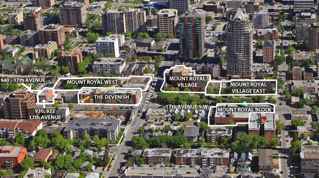 MOUNT ROYAL VILLAGE LOCATION IN CALGARY. PHOTO: FIRST CAPITAL REALTY