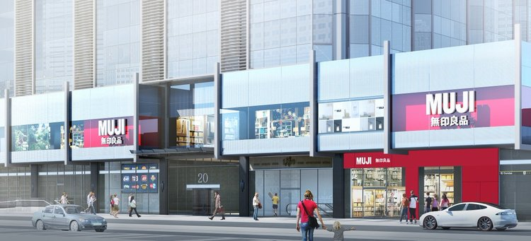 Rendering of the massive Toronto Muji flagship set to open this fall, provided by Muji.