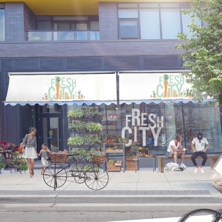 Online retailers go brick-and-mortar: Above: Toronto-based Fresh City Farms is now opening physical locations and below, Vistaprint opened its very first store in the world in Toronto last year.