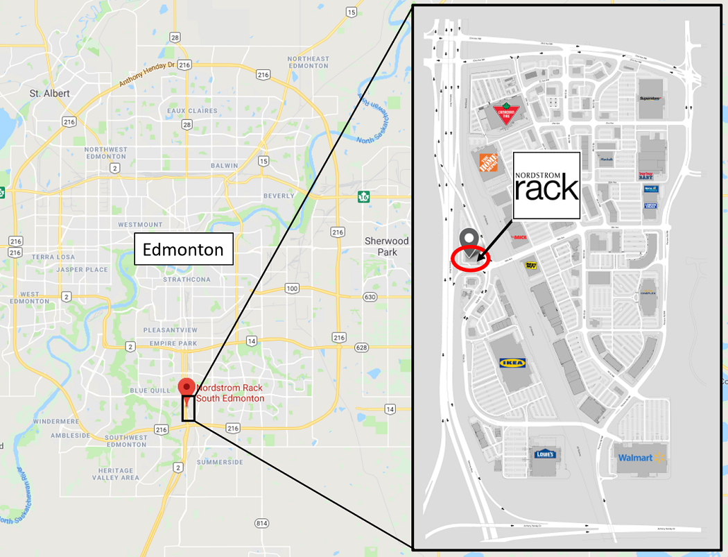 Interactive Google Map    and    South Edmonton Common Map