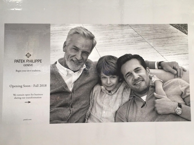 Patek Philippe Construction Signage. Photo: Lee rivett