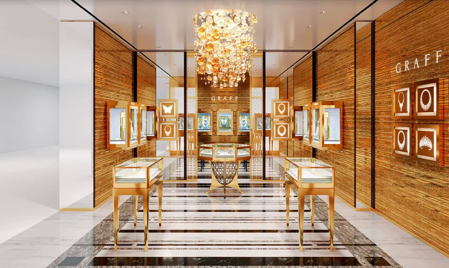 Rendering of the Vancouver Salon, provided by Graff