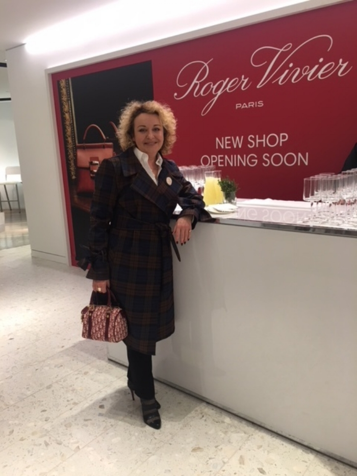 Yana Brikker onsite for the SHoe Hall opening, in front of the Roger Vivier boutique. Photos (above and Right): Yana Brikker.