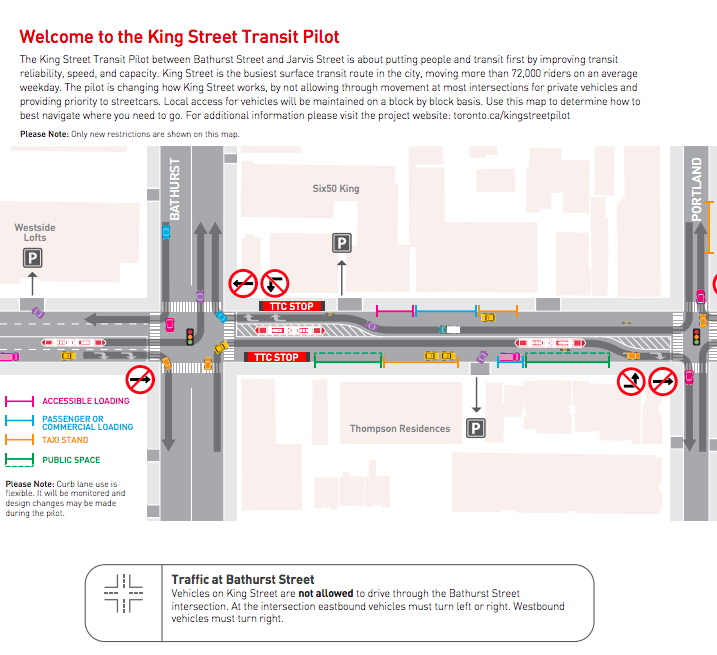 Click Image for PDF Map, as well as explanation points, via the City of Toronto