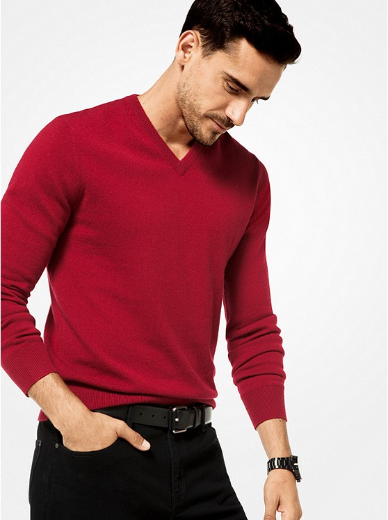 Cashmere V-Neck Pullover. Photo: Michael Kors Website