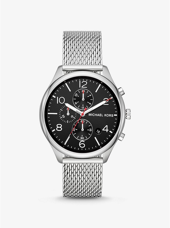Merrick Silver-Tone Mesh Watch. Photo: Michael Kors Website