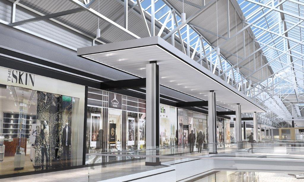 Above and Below: Renderings of the updated CF Fairview Pointe Claire, provided by Cadillac Fairview