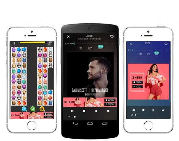 Chinese retail apps like SHEIN run consistent and original ad campaigns in different formats