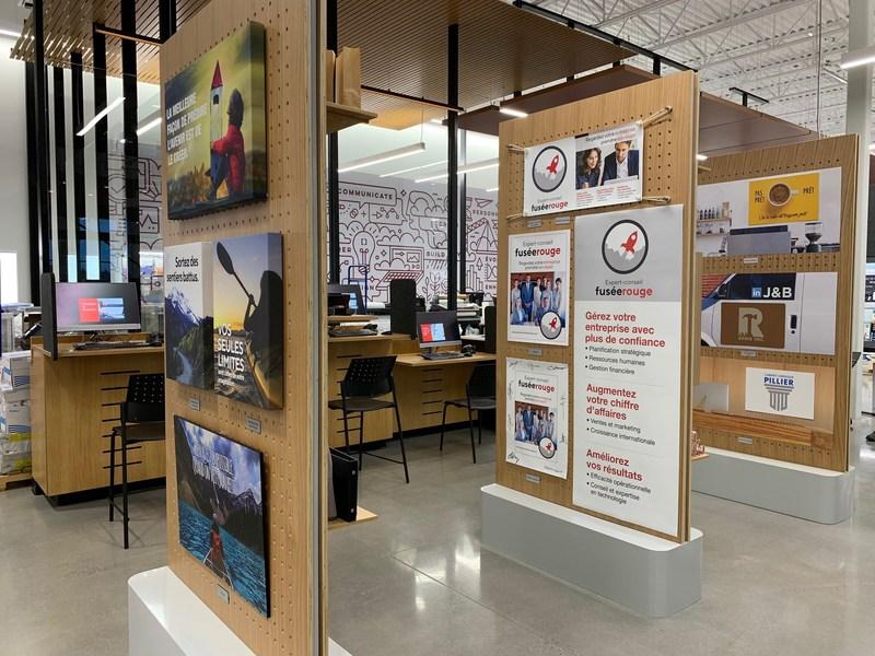 Solution Shop at the new Bureau en Gros store in Kirkland, Quebec. Photo: Newswire/Staples
