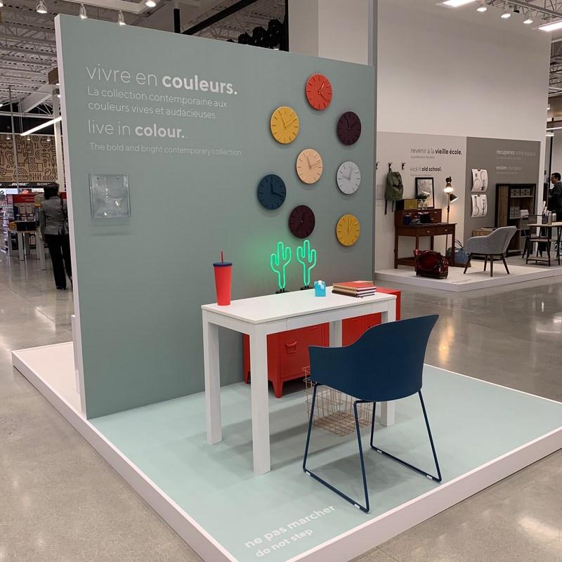 Workspaces vignette at the new concept Bureau en Gros store in Kirkland, Quebec. Photo: Newswire/Staples