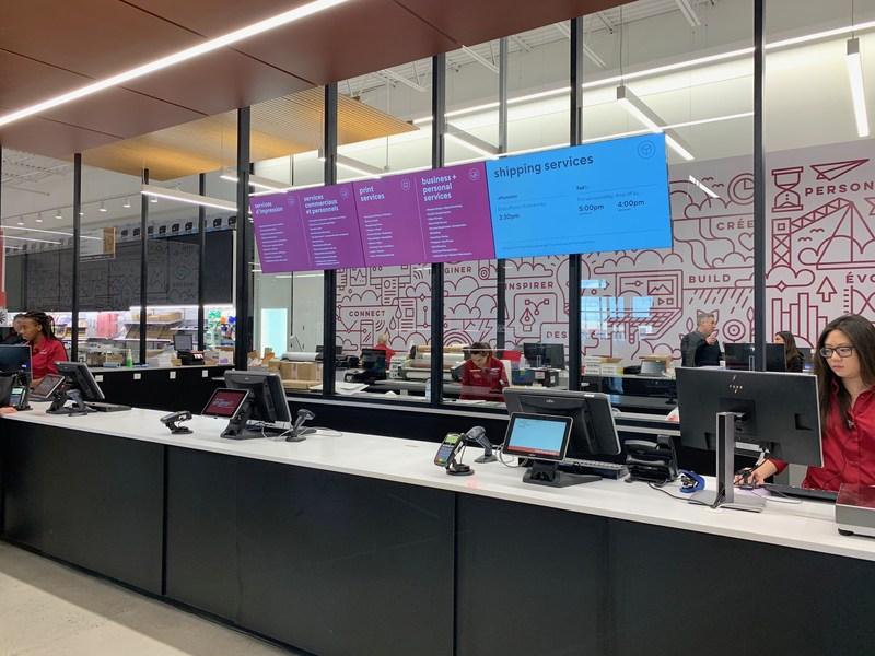 Solution Shop at the new concept Bureau en Gros store in Kirkland, Quebec. Photo: Newswire/Staples