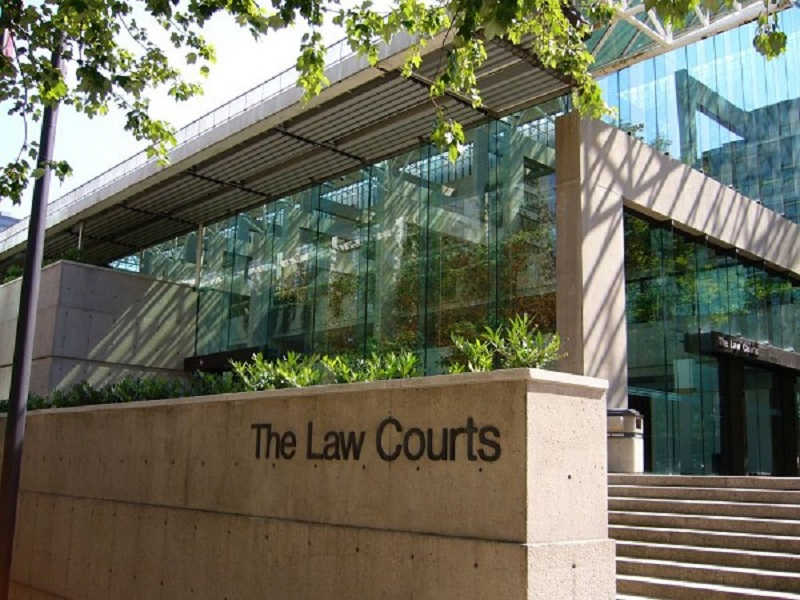 Miniso was on the court docket on January 7, 2019, and the parent company's lawyer provided a statement to the Canadian Press prior. Photo of Vancouver Law Courts at 800 Smithe Street. Photo:    Structurae