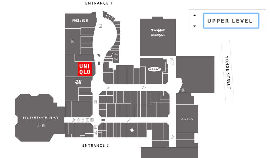 Click image for interactive Upper Canada Mall floor plan