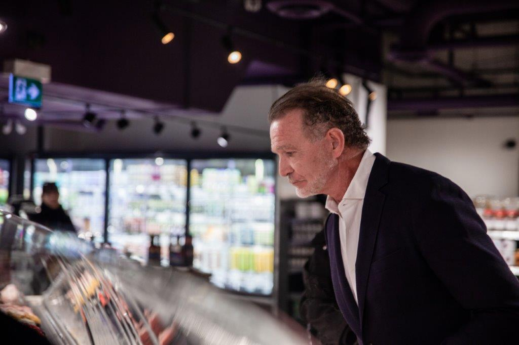 Mark McEwan in the new store.