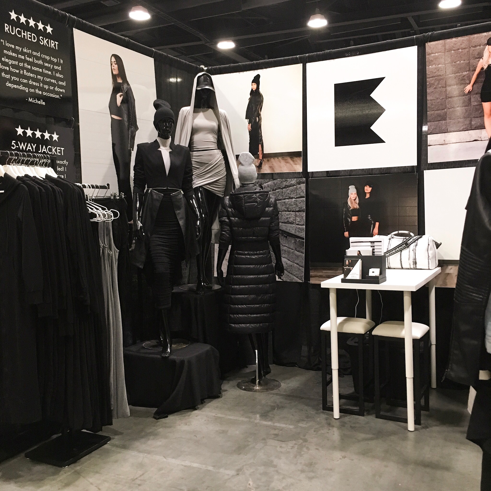 EMMYDEVEAUX DISPLAY AT KNOWSHOW IN VANCOUVER ON JANUARY 16, 2019.