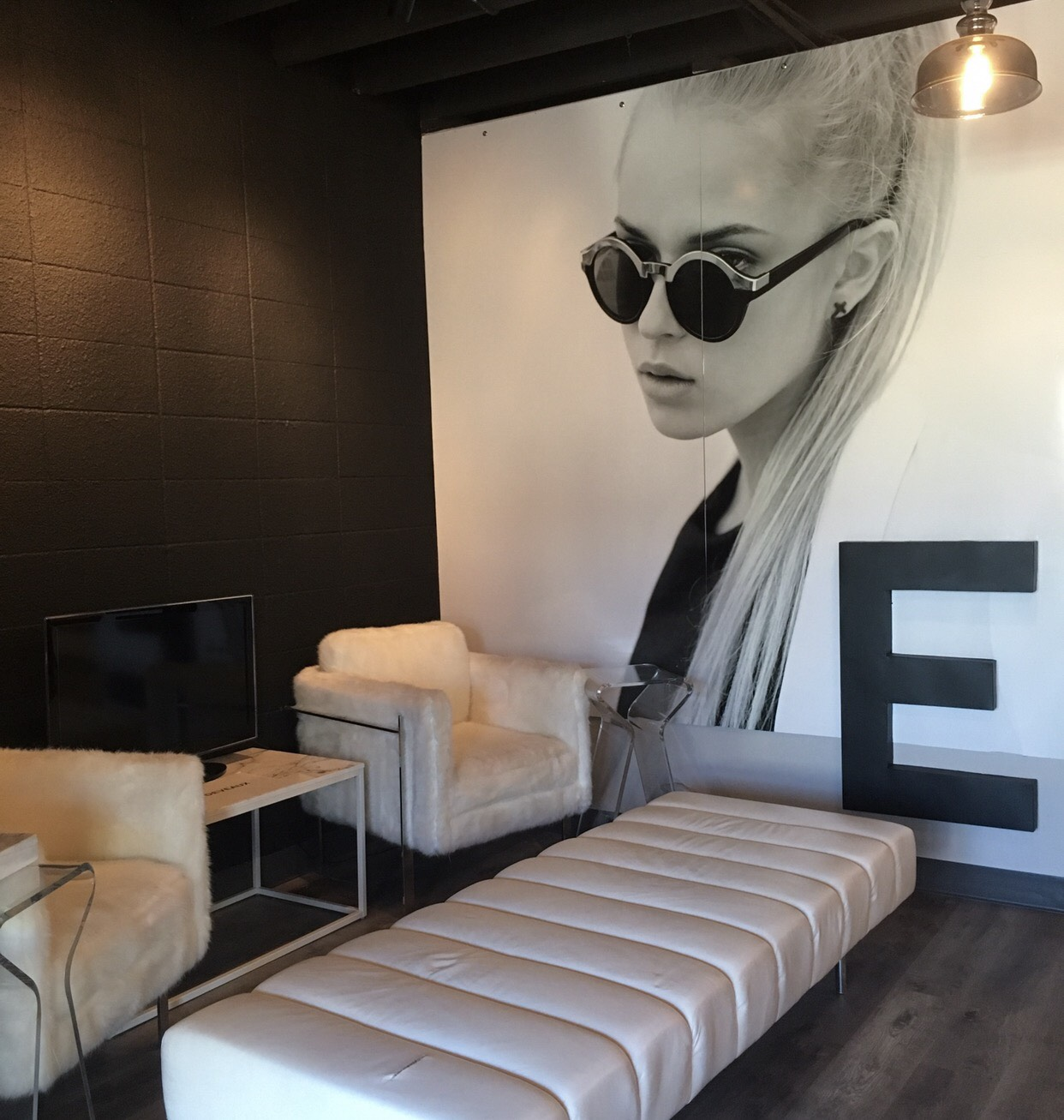A SEATING AREA IN EMMYDEVEAUX'S NEW STOREFRONT.