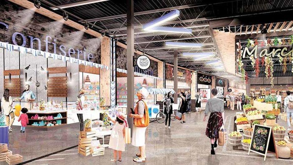 Renderings of Quebec City Food Market aT Galeries de la Capitale set to open Fall 2019