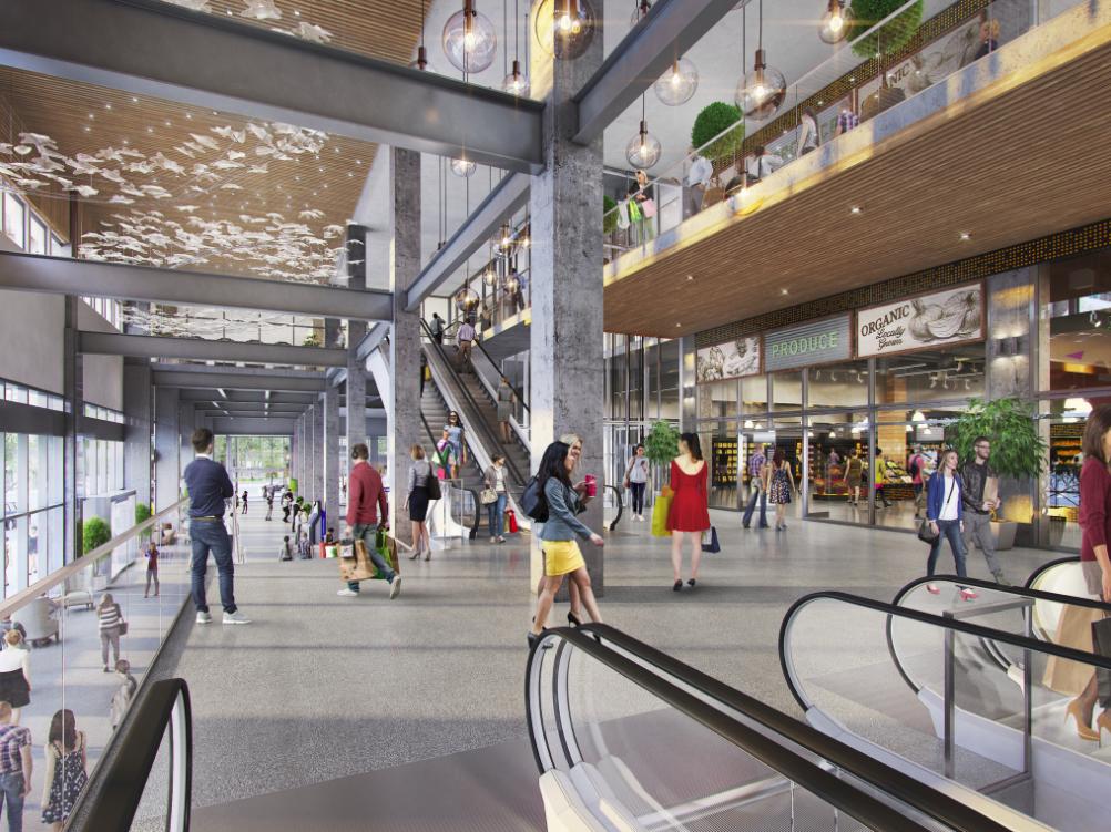 Retail corridor/Interior of 'The Post' Rendering: Quadreal