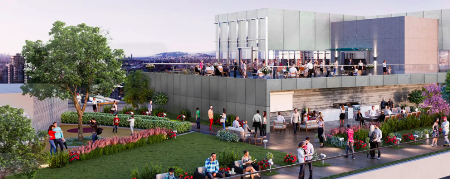 Rooftop green amenity space. Image: QuadReal