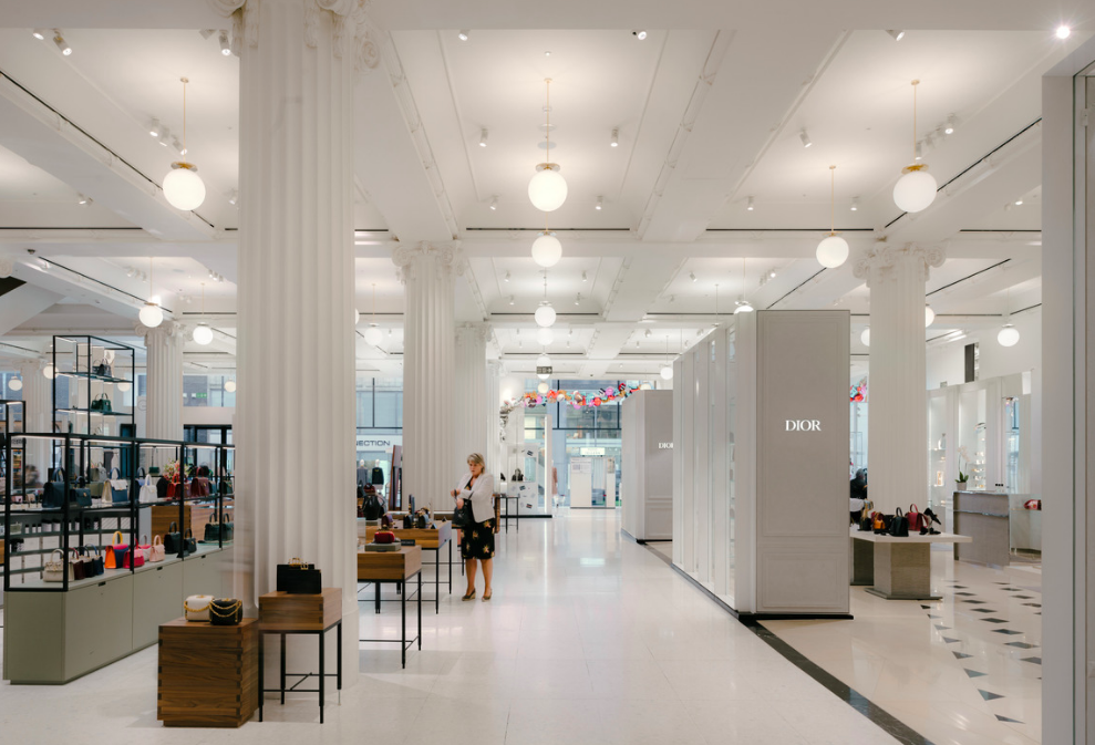Selfridges, London, Oxford Street. The 60,000 square foot luxury accessories hall is the largest of its kind in the world. (Photo: Selfridges & Co.)