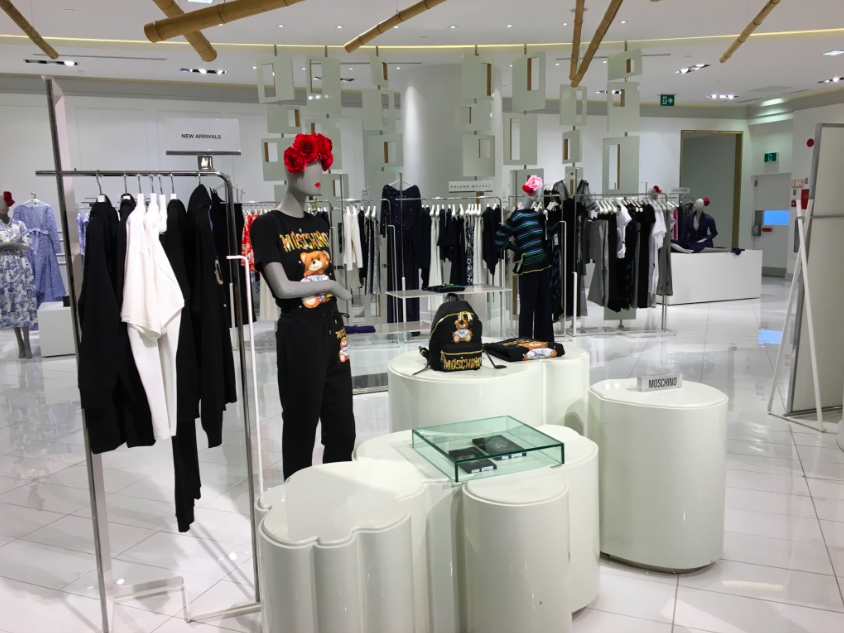 Women's Moschino area in The Room.