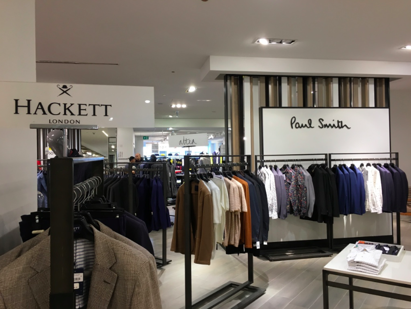 Paul Smith boutique on the 5th floor men's store.