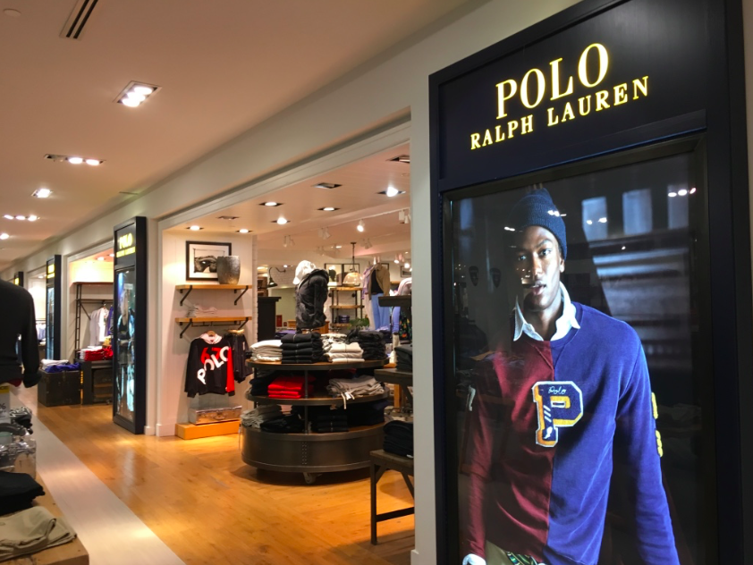 The large Polo Ralph Lauren shop-in-store.