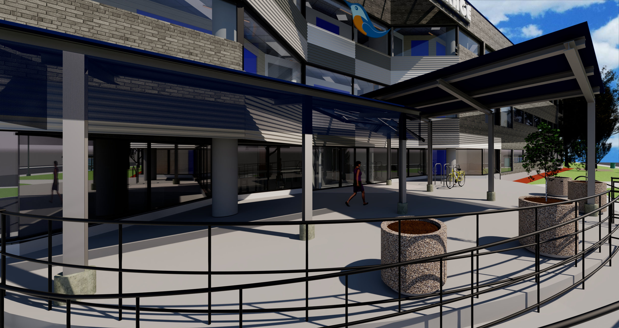 Renderings of the new Don Mills Bluebird Self Storage in Toronto. Image: Bluebird Self Storage