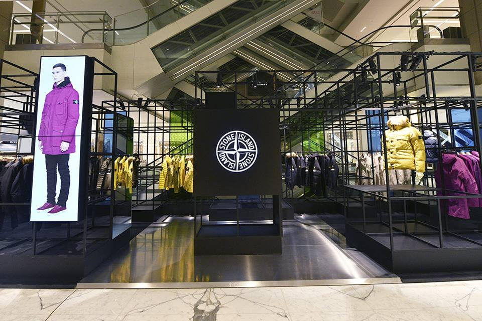 Photos above/below are a pop-up shop of Stone Island in Beijing. Photos: Stone Island Facebook
