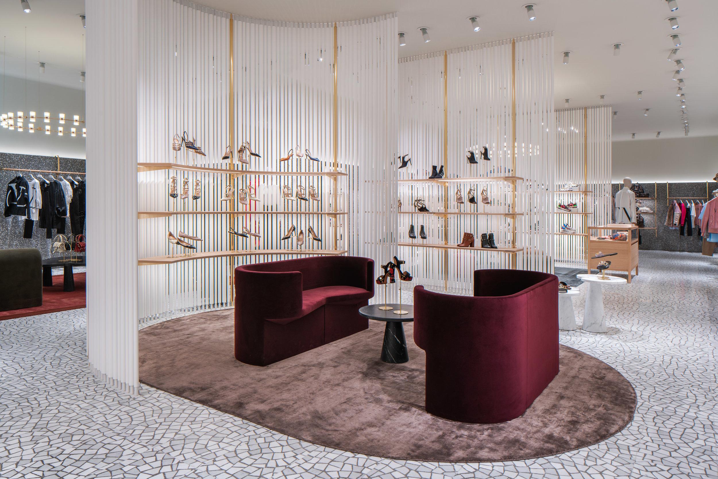 Women's footwear section